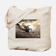 Sleeping Puma Tote Bag