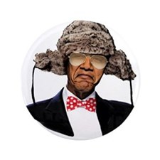 """Obama The Hipster 3.5&Quot; 3.5"""" Button"""
