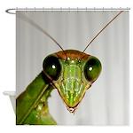 Preying Mantis Eyes Shower Curtain