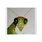 Preying Mantis Eyes Throw Blanket