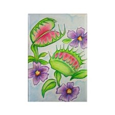 Venus Fly Trap Rectangle Magnet