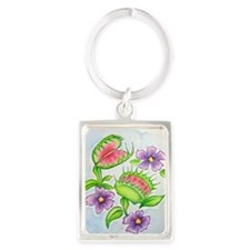 Venus Fly Trap Portrait Keychain