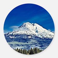 Mt Shasta Beauty Round Car Magnet