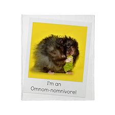 Omnivore Hamster Throw Blanket