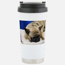 Sleeping French Bulldog Stainless Steel Travel Mug