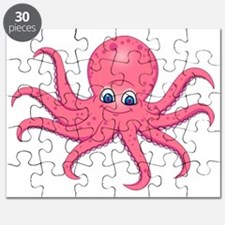 Cute Pink Octopus  Puzzle