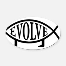 Funny Creationism Oval Car Magnet