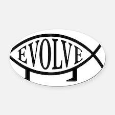 Cool Evolution Oval Car Magnet