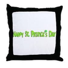 Happy St. Patricks Day Throw Pillow