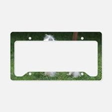 Small Chinese Crested Dog License Plate Holder