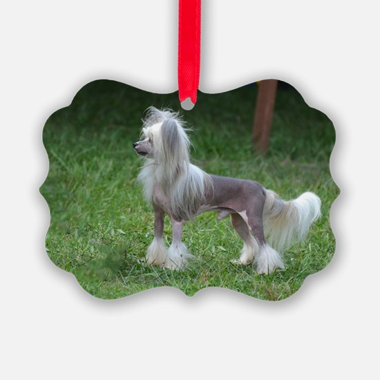 Small Chinese Crested Dog Ornament
