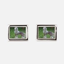 Small Chinese Crested Dog Cufflinks