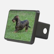 Black Wire Haired Dachshun Hitch Cover
