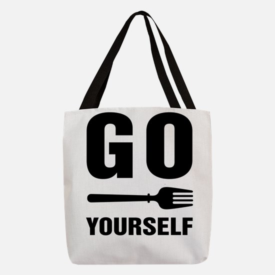 Go Fork Yourself Polyester Tote Bag
