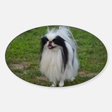 Cute Japanese Chin Sticker (Oval)