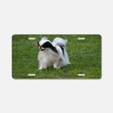 Smug Mug of a Japanese Chin Aluminum License Plate