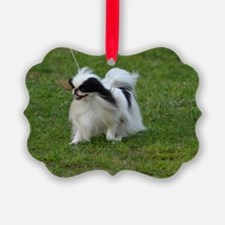 Smug Mug of a Japanese Chin Ornament