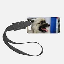 Smiling Keeshond Dog Luggage Tag