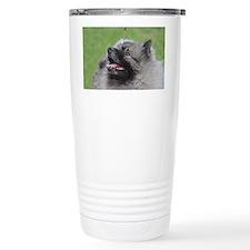 Fluffy Keeshond Travel Coffee Mug