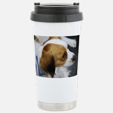 Brown and White Kooiker Travel Mug