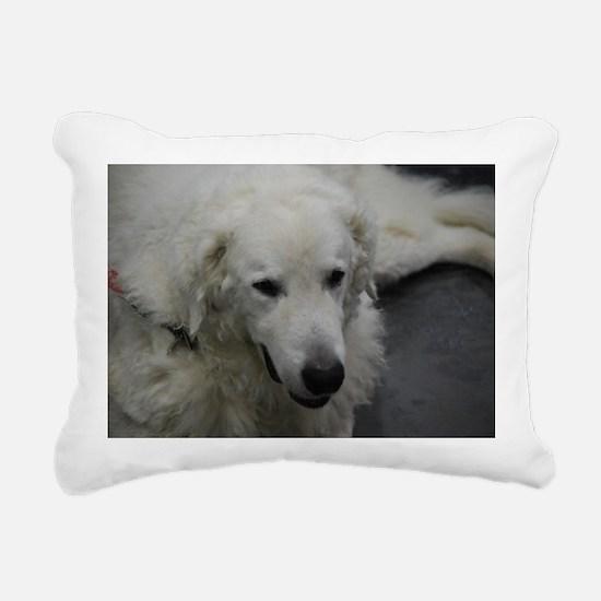 Kuvasz Dog Rectangular Canvas Pillow