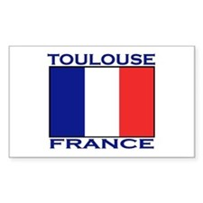 Toulouse, France Rectangle Decal