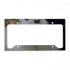 Maltese Dog License Plate Holder