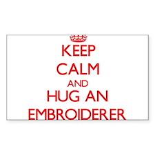 Keep Calm and Hug an Embroiderer Decal