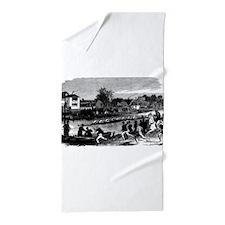 Vintage English Regatta Beach Towel