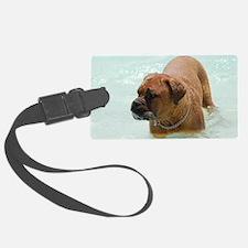 Swimming French Mastiff Luggage Tag