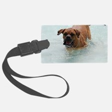 Bordeaux Mastiff Playing in Wate Luggage Tag