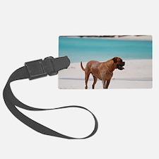 Bordeaux Mastiff on the Beach Luggage Tag