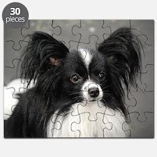 Black and White Papillon Dog Puzzle