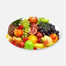 Mixed Fruits Oval Car Magnet