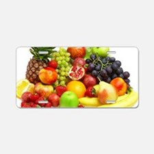 Mixed Fruits Aluminum License Plate