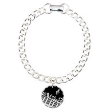 Stylish designer piano and music notes Bracelet
