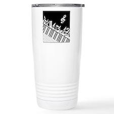 Stylish designer piano and music notes Travel Mug