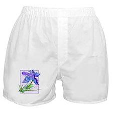 Purple Iris Boxer Shorts