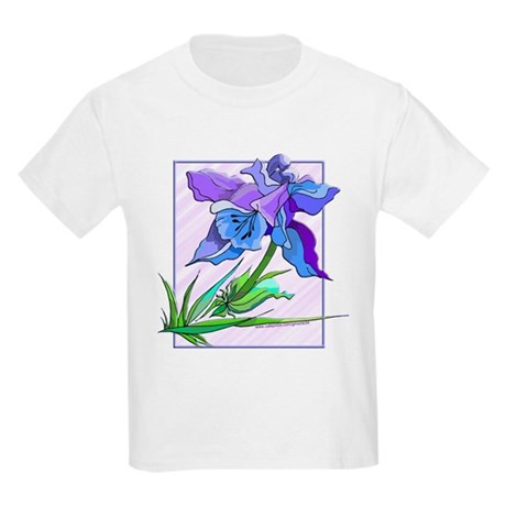 Purple Iris Kids Light T-Shirt