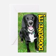 Belated Birthday Doggone It! Dog Greeting Card