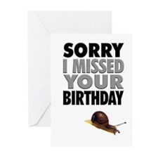 Humorous Belated Birthda Greeting Cards (Pk Of 10)