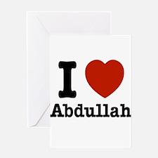 I love Abdullah Greeting Card