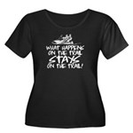 What Hap Women's Plus Size Scoop Neck Dark T-Shirt