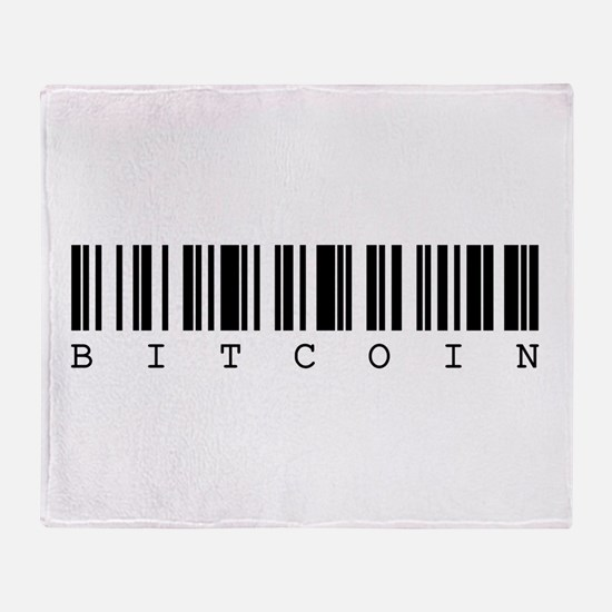 Bitcoin Barcode Throw Blanket
