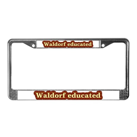 Waldorf educated License Plate Frame