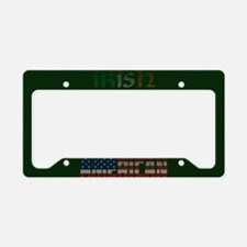 Irish American Flag Text License Plate Holder