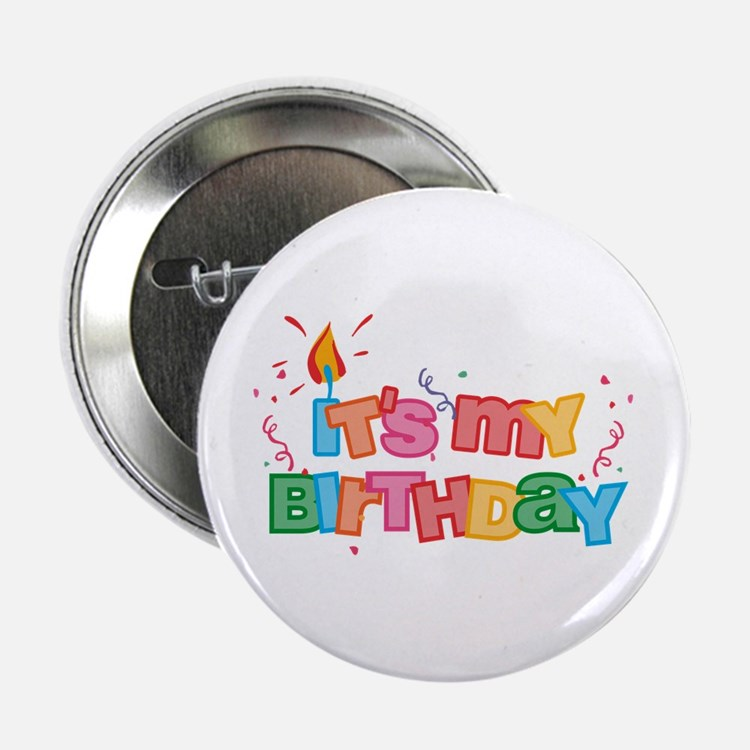 It's My Birthday Letters Button