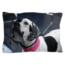 White and Black Pointer Pillow Case
