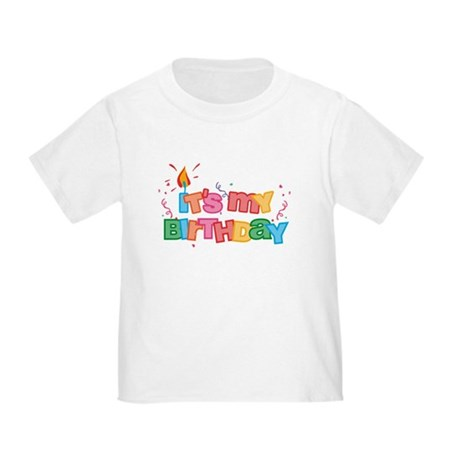 It's My Birthday Letters Toddler T-Shirt