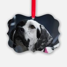 Adorable Pointer Dog Ornament